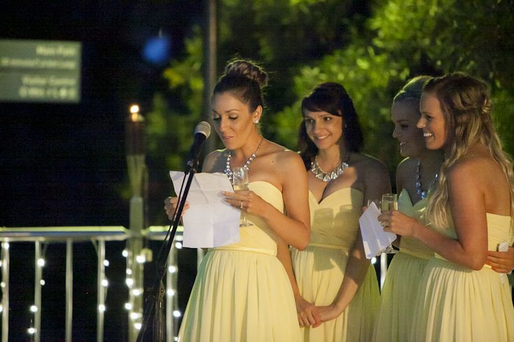 Special moment! Jenna's gorgeous bridesmaids wore the Chloe #bridesmaid #dresses:  http://www.natashamillani.com.au/product/strapless-bridesmaid-dresses/