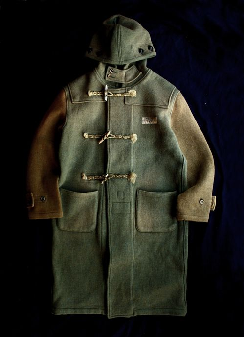 1940's wool duffle coat | Green / brown | Autumn colours | Vintage | Old