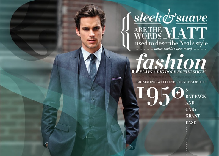 Sleek & Suave for both the typeface and the photograph. By the way, this photo is not modelled, just a casual behind the scene shoot when he's filming.