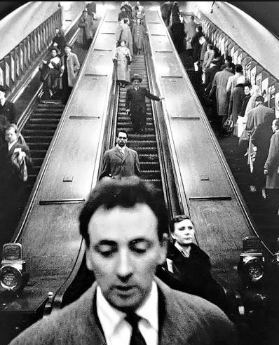 Sergio Larraín.Baker Street underground station, London.
