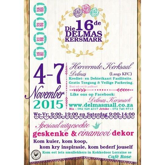 Delmas Christmas market 2015 Poster