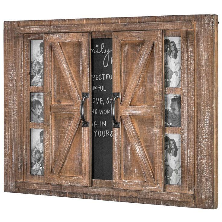 Crystal Art Gallery Barn Door 6 Opening Frame Chalkboard Wall