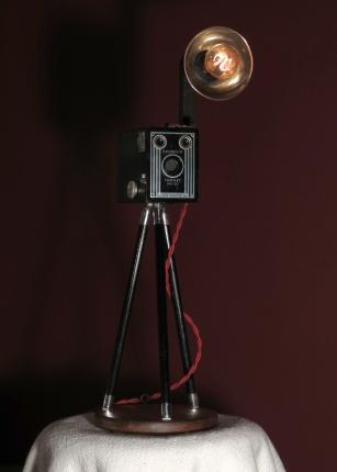 I want one! Box Brownie Camera Lamp