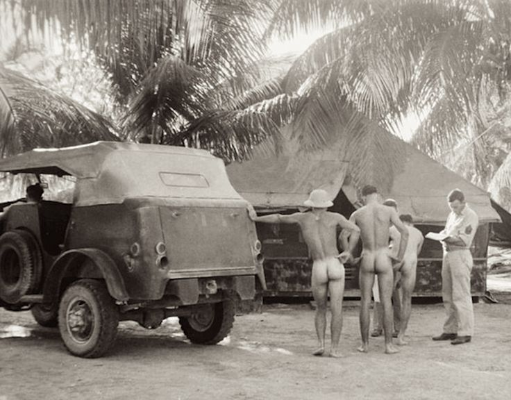 In the tropics  '40s. May need to just create a board for vintage naked soldier photographs.