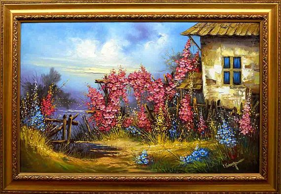 Decorative oil painting on canvas  Flower's mirage