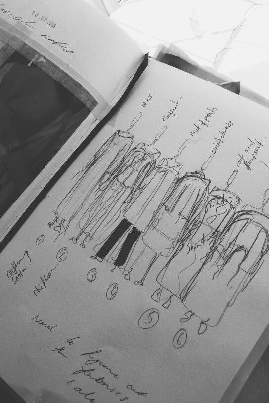 Fashion Sketchbook - fashion design sketches; fashion student portfolio // Emma Cusack