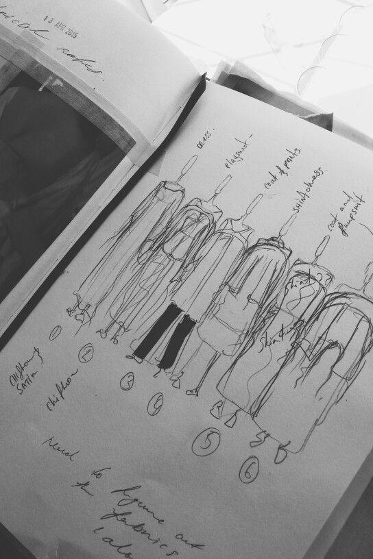 Fashion Sketchbook - fashion design sketches; fashion student portfolio // Emma Cusack