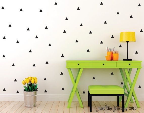Triangle Wall Decal Set - Triangle Decor Decals Wall Decor - Modern Triangle Wall Decal - Triangle Vinyl Decal - Triangle Wall Sticker