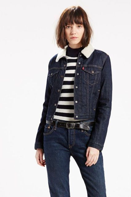 These Are The 10 Most Popular Brands For New York Women #refinery29  http://www.refinery29.com/2016/11/129129/nyc-most-popular-clothing-brands#slide-3  Speaking of jean jackets, this sherpa-collared version is lined for extra warmth.Levi's Thermore Trucker Jacket, $108, available at Levi's....