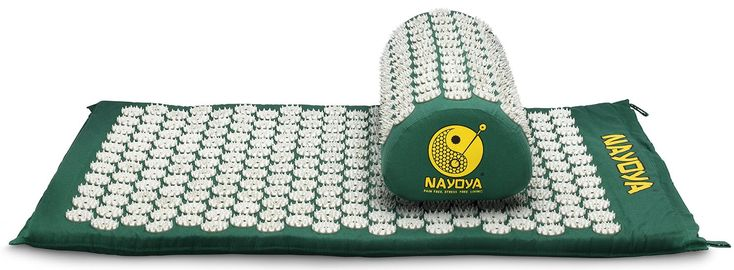 Nayoya Back and Neck Pain Relief - Acupressure Mat and Pillow Set - Relieves Stress, Back, Neck, and Sciatic Pain - Comes with a Vinyl Carry Bag for Storage and Travel - As Seen in USA Today * Special  product just for you. See it now! : Skin care