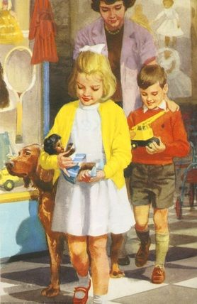Leaving the Toyshop - Play with Us - Ladybird Books 1964