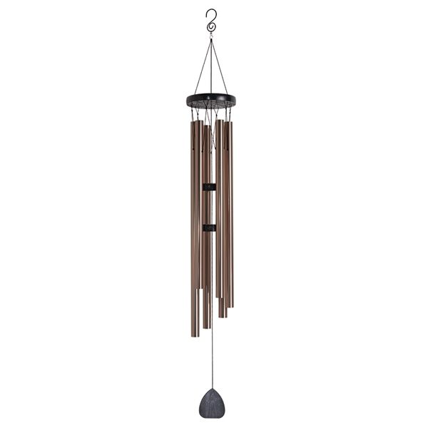47 In Black And Bronze Metal Modern Wind Chime Modern Wind Chimes Wind Chimes Bronze