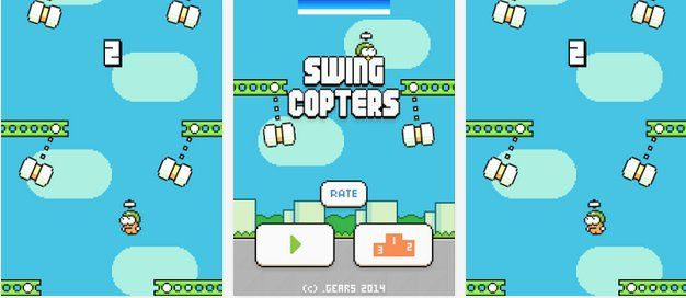 Game Swing Copters created by flappy bird creator