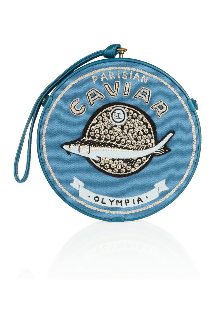 Olympia Le-Tan | Caviar Parisian embroidered clutch  #dressedandeducated www.dressedandeducated.com