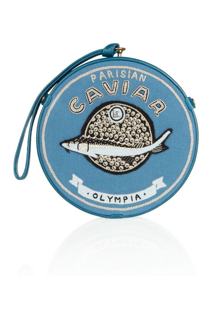 Olympia Le-Tan | Caviar Parisian embroidered clutch #dressedandeducated www.dressedandeducated.com