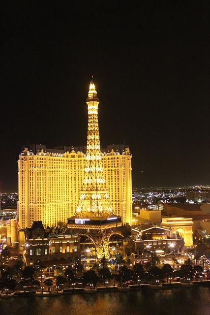Paris Casino at night, Las Vegas by holidaypointau, via Flickr