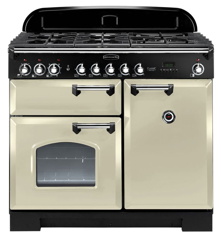 Rangemaster Classic Deluxe 100: don't need 2 ovens (or 9 ranges). But it's dual fuel & a good look.