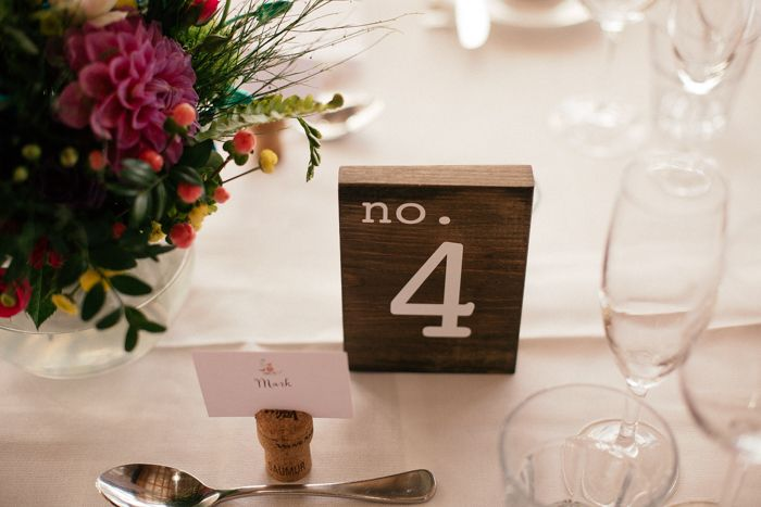 Wooden table numbers captured by Sarah Godenzi @ Yarra Ranges Estate