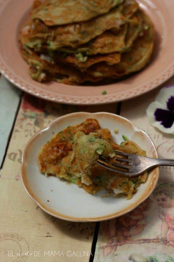 zucchini and prawns pancakes