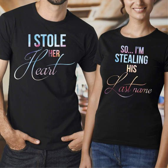 Just Married 2018 Vacation Honeymoon Tshirts His & Hers Disney Inspired YJk8rvix