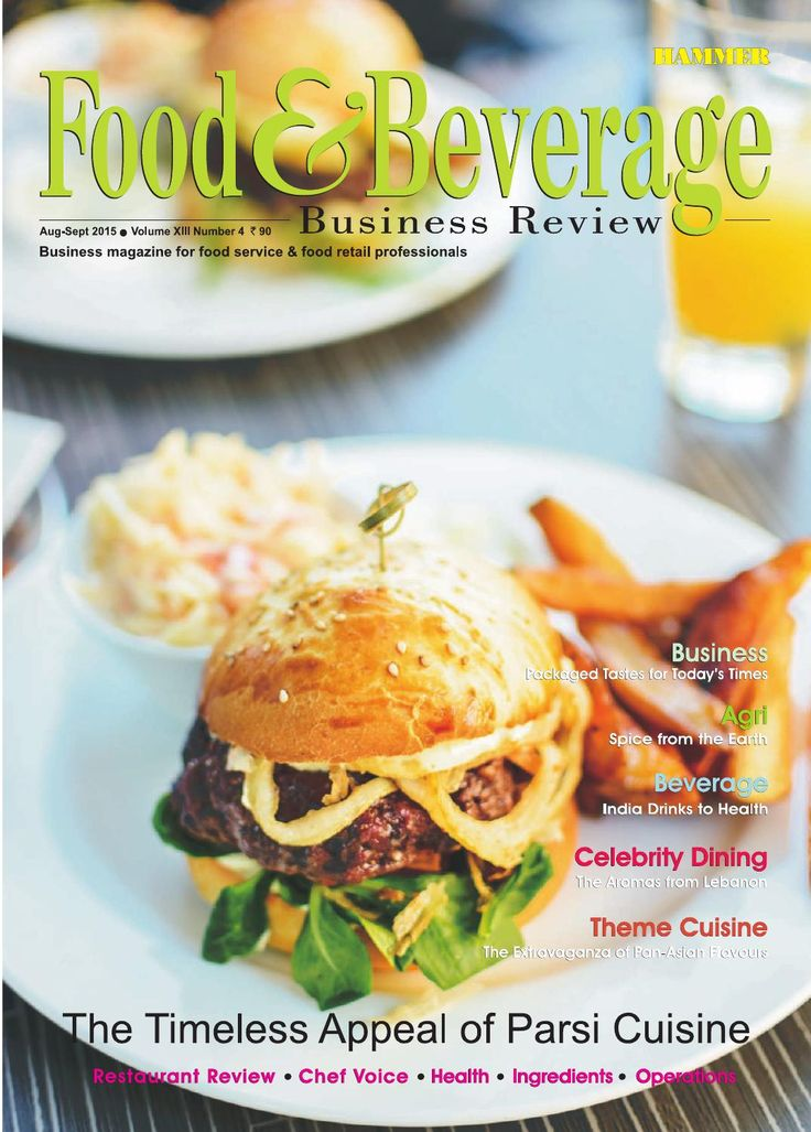 Food & Beverage Business Review ( Aug-Sep 2015)  Seasons Greetings to all readers ! In this issue we have covered Parsi cuisine, which has great legacy and does present a wonderful gastronomic fare. This cuisine deserves much greater promotion across India's food service industry. The trends in packaging in food & beverage industry are being explored through our Business section. A feature on the growth of non-carbonated drinks market in India; a review of an authentic Lebanese cuisine…