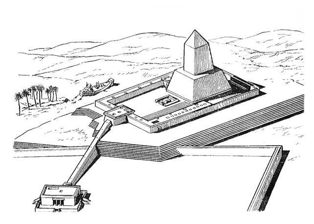 Солнечный храм фараона Ниусерры в Абу- Гурабе  25 в до н.э.