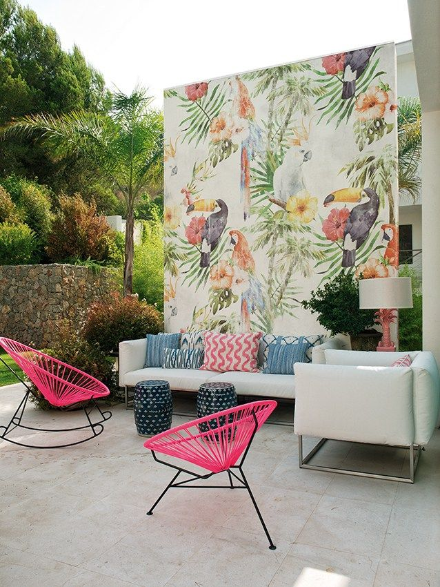Motif outdoor wallpaper TOCO - @wallanddeco
