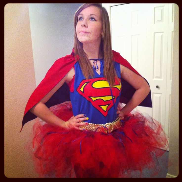 Halloween costume idea.. Superman with a tutu, girly yet unique