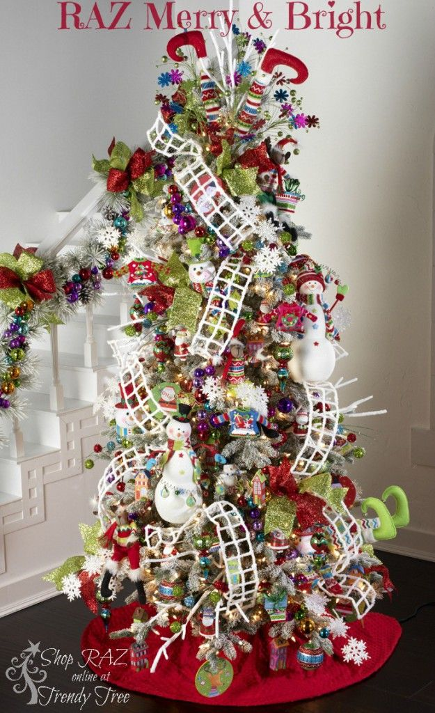 RAZ 2015 Merry & Bright Christmas Tree visit http://www.trendytree.com for RAZ Christmas decorations