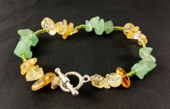 Handmade Crystal Bracelet of Prosperity and Wealth Energy
