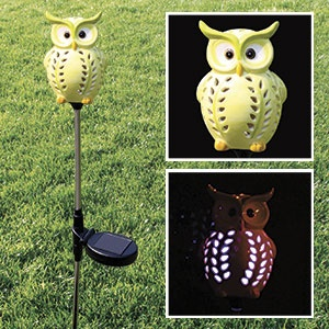 Colour Changing Solar Owl Garden Stake   Adorable Ceramic Solar Light Will  Dazzle Your Patio, Walkway Or Garden At Night; And Add A Little Funu2026 |  Pinteresu2026