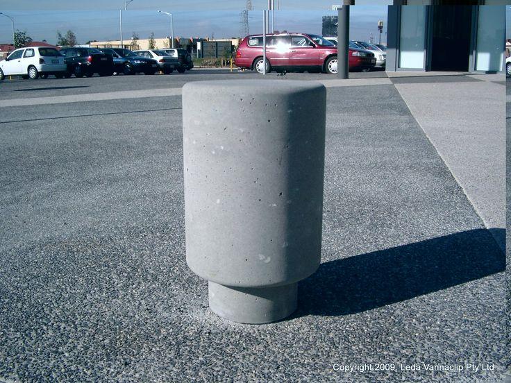 Roman concrete bollard