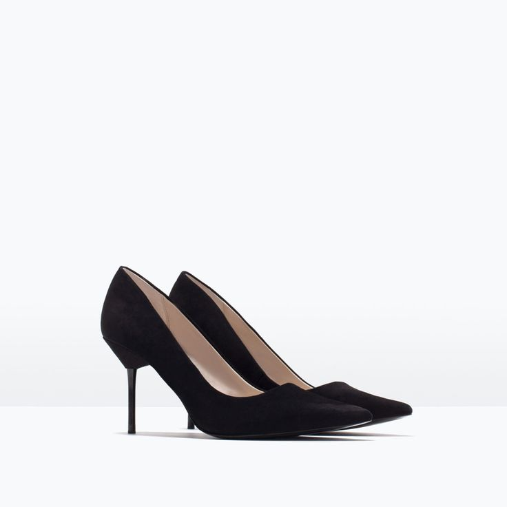 ZARA - WOMAN - HIGH HEEL LEATHER COURT SHOE WITH POINTED TOE