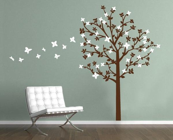 Flowering TreeNew Room, Kids Room, Flower Trees, Kid Rooms, Tree Wall Decals, Art Decals, Room Ideas, Vinyls Wall Decals, Trees Wall Decals