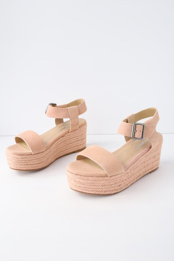 6cfe74aaab5 Siena Blush Suede Leather Espadrille Flatform Sandals in 2019 ...