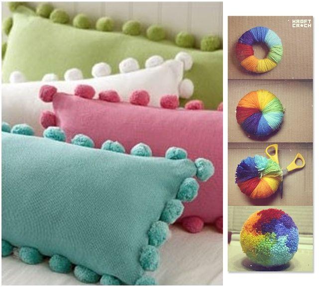 Mis puntadas preferidas alfombras de pompones - Como hacer alfombras con trapillo ...