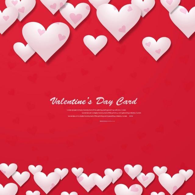 Happy Valentines Day Greeting Card Background Valentine