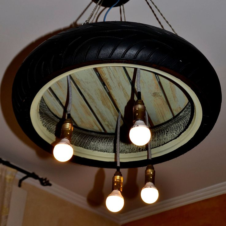 #tire #suspensionlamp #chandelier #handmade #recycle #redesign