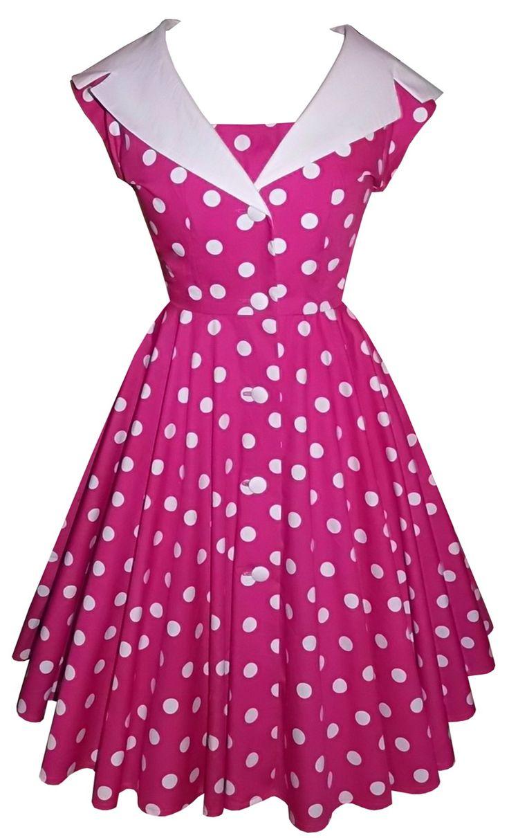 Polka dot collared dress