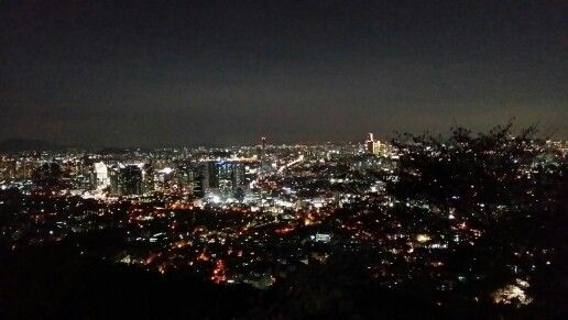 Night view of Seoul city from Namsan Tower