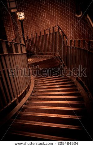 Old Stairway In Sepia Colors Stock Photo 225484534 : Shutterstock