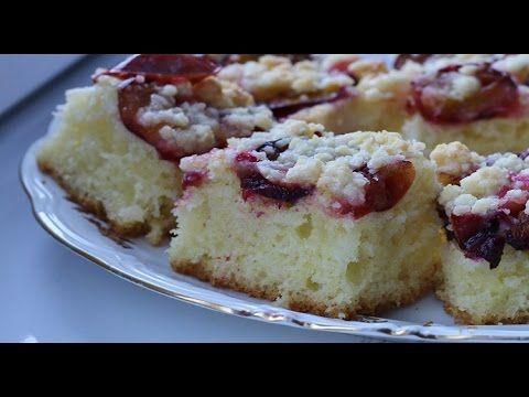 Ciasto drożdżowe pychota ze śliwkami, kruszonką, najłatwiejsze i puszyste!!! - YouTube