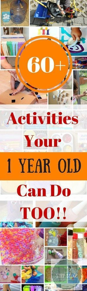 Your one year old can play too! Sensory, arts and crafts, fine and gross motor activities that are safe for one year olds!