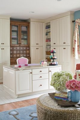 The storage cupboards to keep it neat and organized