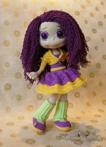 Фиалка по описанию Ани Садовской - Мои игрушки - Галерея - Форум почитателей амигуруми (вязаной игрушки)