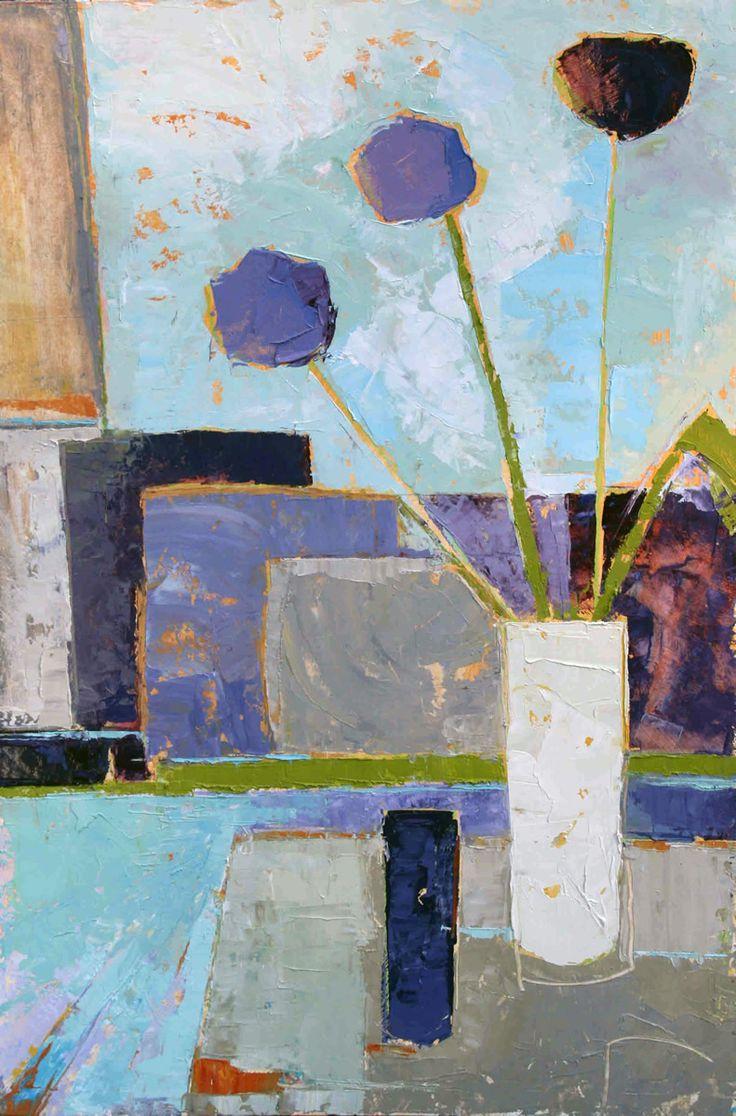 Alliums Oil on Board 76 x 51 cm   #Art #Paintings #StillLife