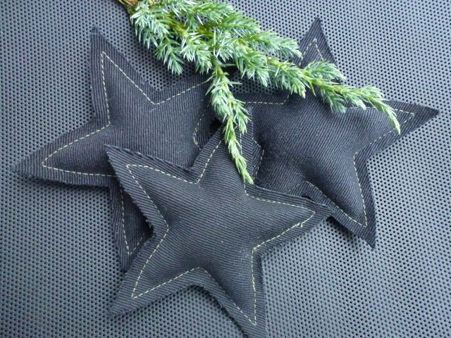 Fabricstar,black with green stitches,wool inside.Made by UNNI HOFF