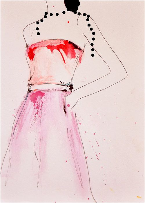 About A Pearl - Fashion Illustration Art Print. $28.00, via Etsy. (Leigh Viner)