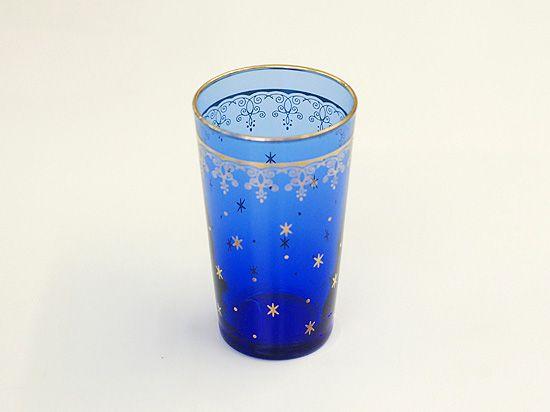 2900円から値下げ!【モロッコ風】オリエンタルな深いブルーのグラス