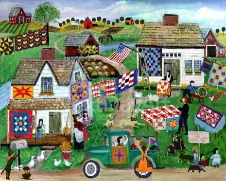 Country Folk Art | Country Folk Art Quilt